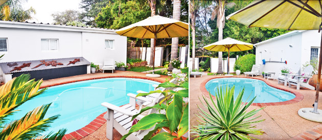 african shades, accommodation, guest house, swimming pool, restaurant, star graded accommodation,  swellendam, overberg